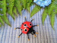Lucky ladybird fridge magnet for housewarming