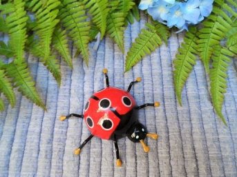 Lucky ladybird fridge magnet for housewarming