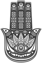 Hamsa protection symbol of faith