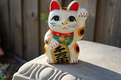 Maneki-Neko good luck charm - symbol for success in business