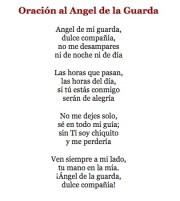 Spanish prayer to Guardian Angel