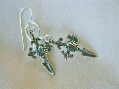 Camino de Santiago cross earrings