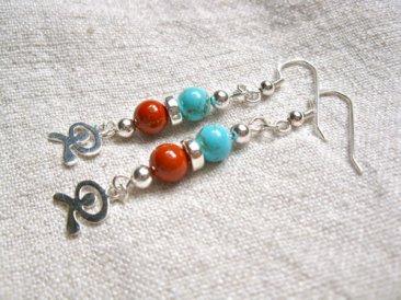 Indalo earrings - birthday gift for luck
