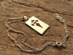 Camino de Santiago James cross dogtag