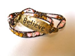 Coral Tigers Eye bracelet promote calm and clear thinking