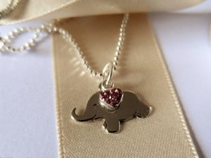 Gift for good luck elephant necklace