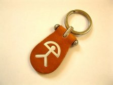 Lucky Indalo keyring Spanish leather