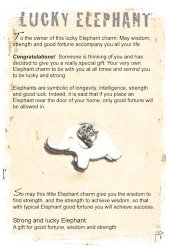 Lucky gift elephant card