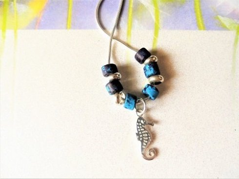 Seahorse charm necklace for luck