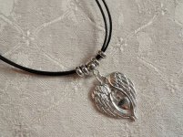 Angel wings necklace for protection