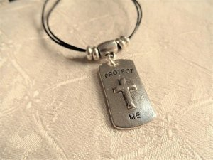Christian Cross dogtag for safekeeping