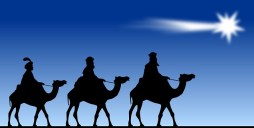 Wise Men with gifts at Christmas