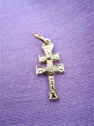 Caravaca cross gold plated
