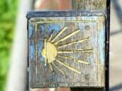 Typical Camino sign waymarker symbol
