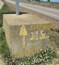 Route to Camino de Santiago