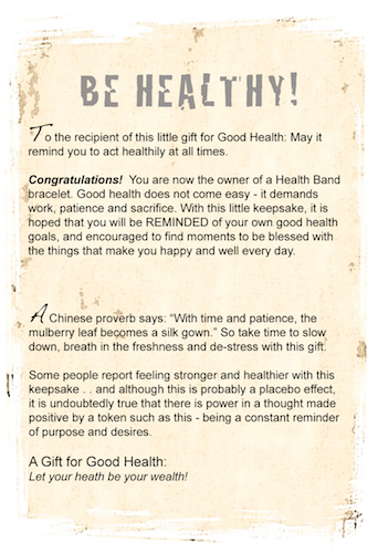 Be Healthy gift card