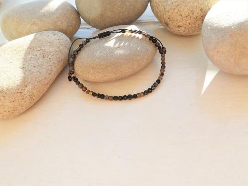 Health Bracelet black stone