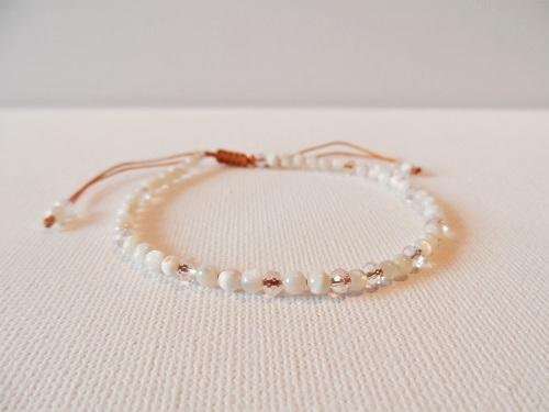 Health Bracelet white crystal
