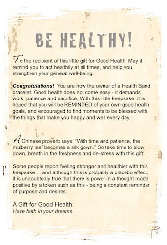 Stay healthy and well