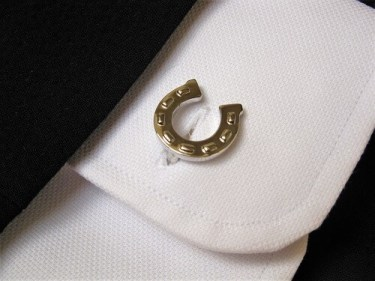 Lucky horseshoe cufflinks for protection