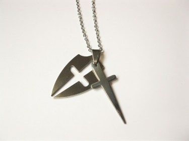 Protection shield cross for safekeeping