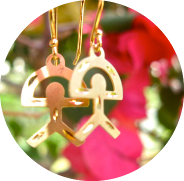 Indalo gold earrings