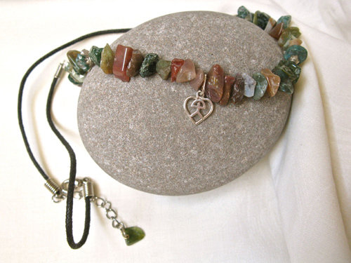 Indalo necklace with Jade
