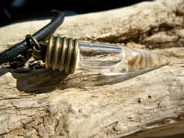 Lourdes water necklace