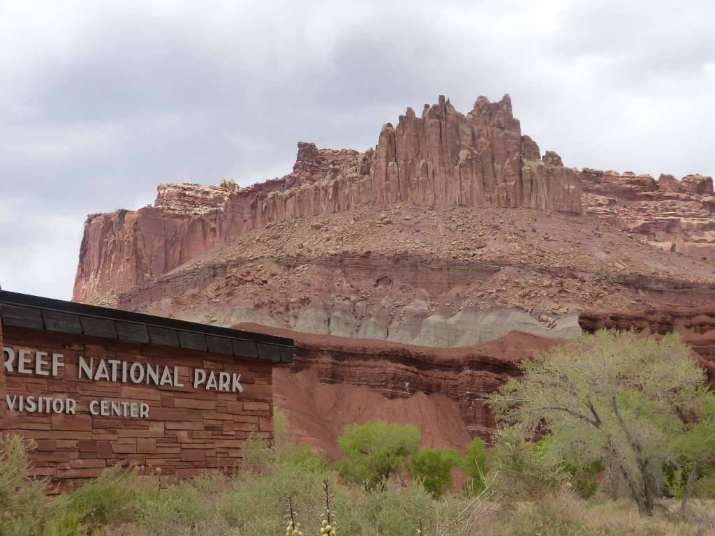 View at Capitol Reef National Park Visitor Center