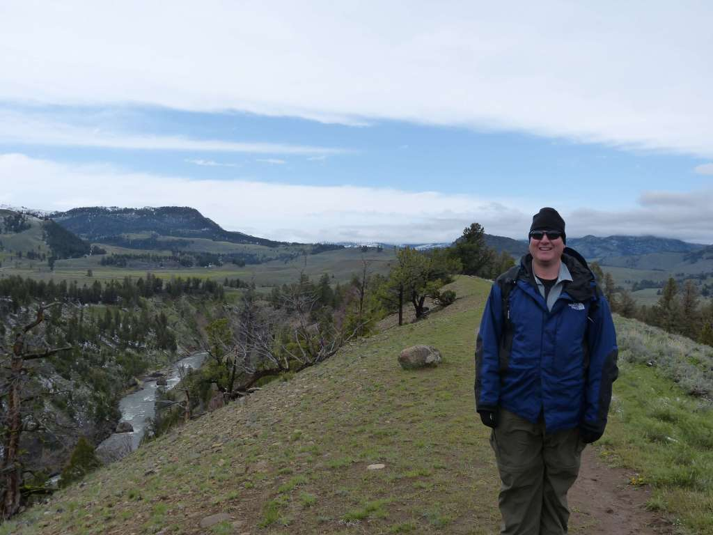 mike on yellowstone river picnic hike