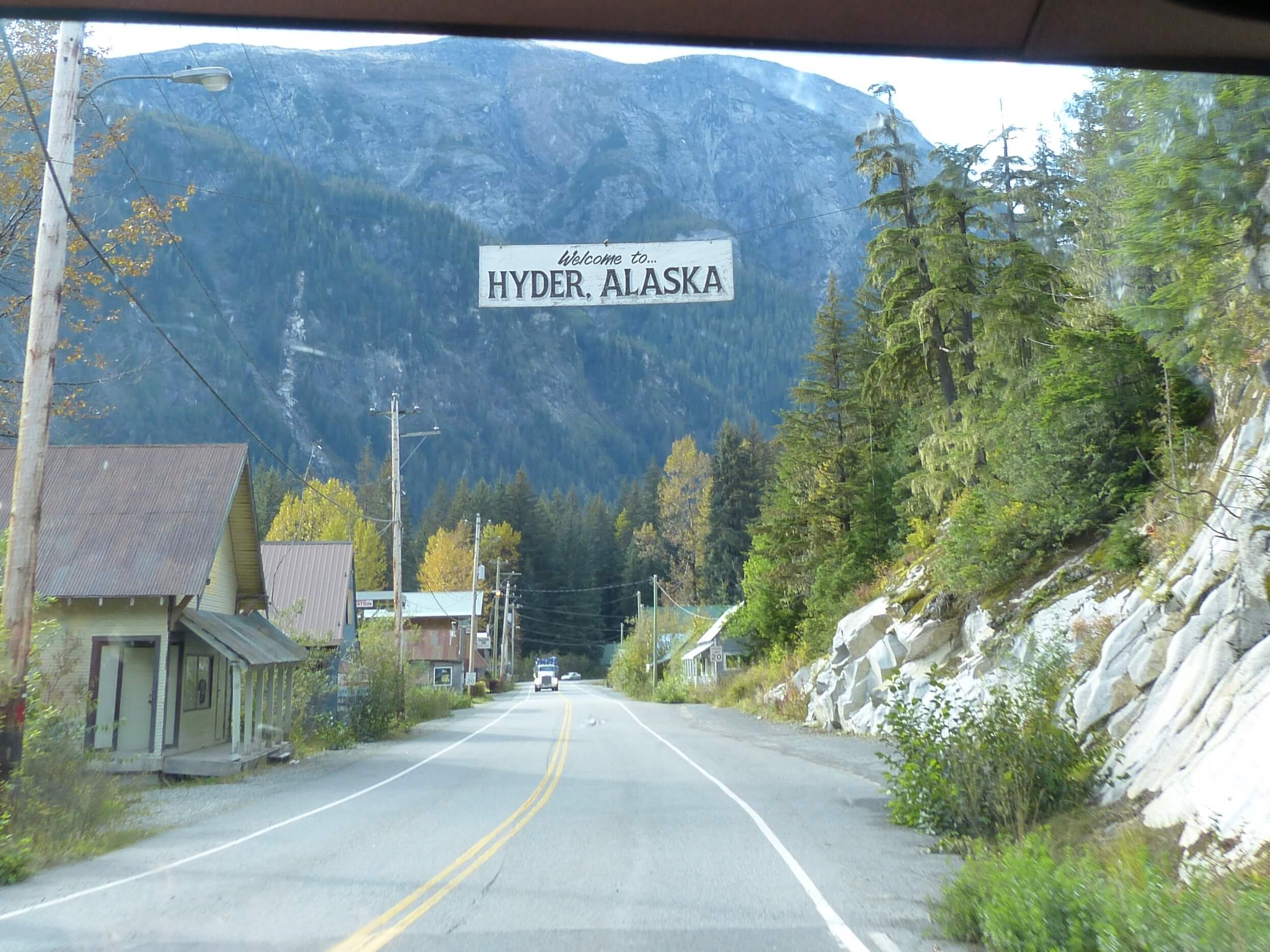 Welcome to Hyder Alaska population of about
