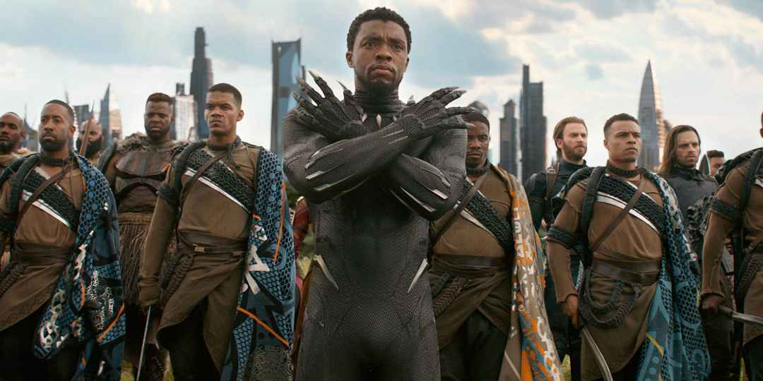 Chadwick Boseman, who played King T'challa of Wakanda, Africa chanted the kingdom's motto 'Wakanda forever!' in the Black Panther movie.