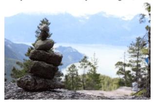 rock formation pile