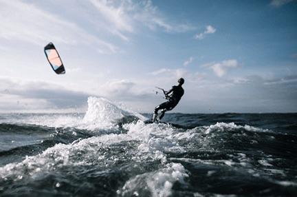 kite surf wake