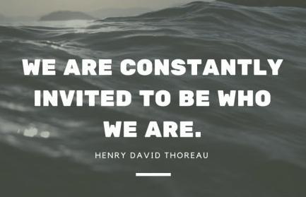 we are constantly invited to be who we are