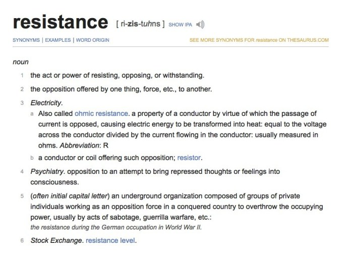 resistance definition