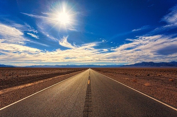 Forward motion road ahead