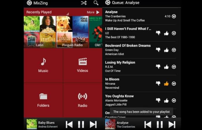 Aplikasi Musik MixZing