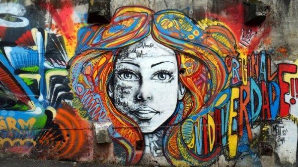 Gambar Grafiti Huruf dan Tokoh