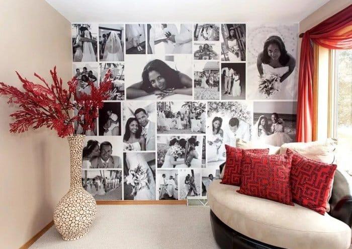 Hiasan Dinding Kamar Menggunakan Puluhan Foto