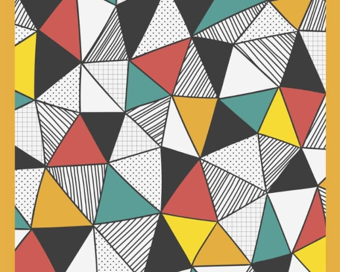 Motif Geometris Segitiga Kombinasi