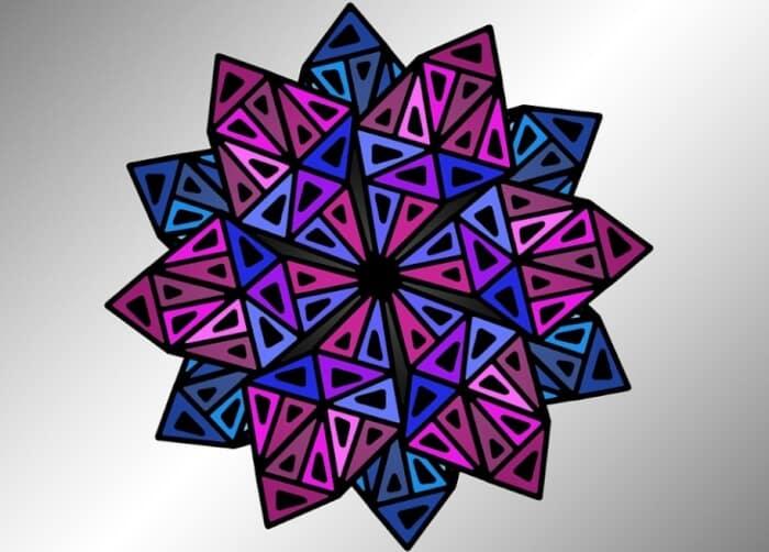 Motif Geometris Segitiga