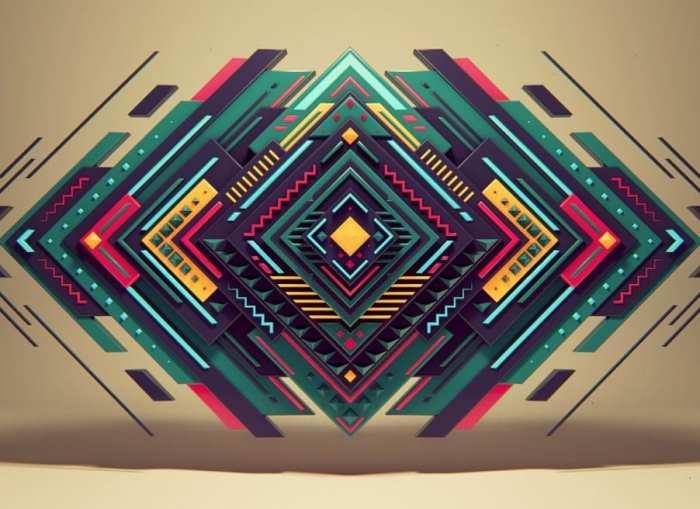 Gambar Abstrak Geometri