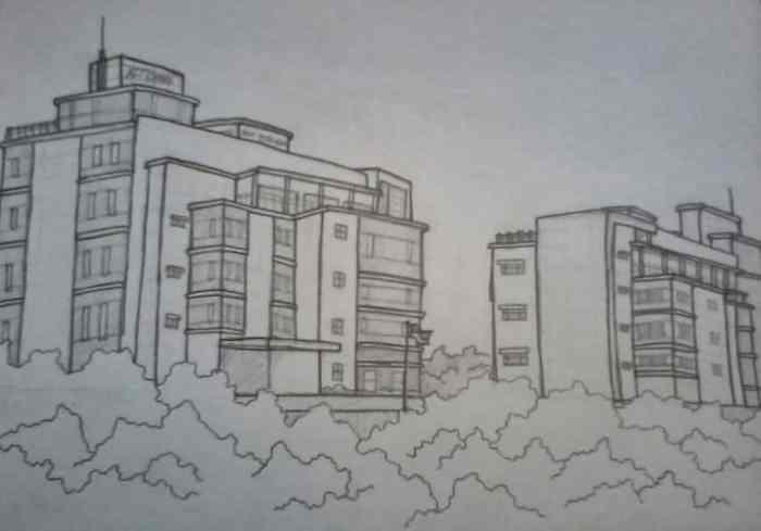 Gambar Sketsa Gedung