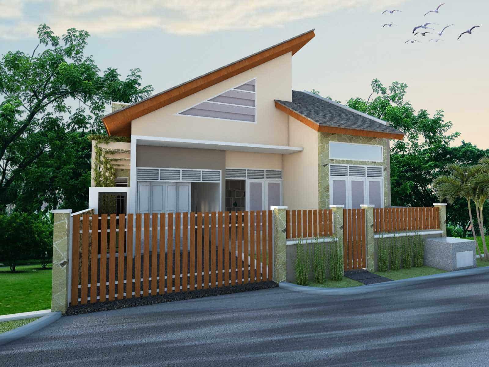 45 Contoh Desain Rumah Desa Sederhana (Klasik dan Modern)