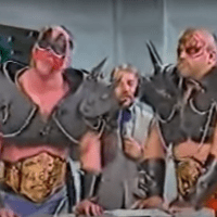 KAYFABE THEATER: The Road Warriors appear with the Six-Man Tag Team Titles