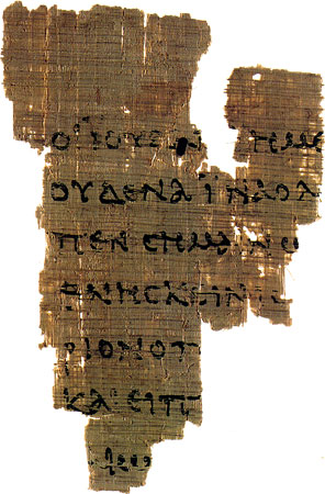P52, The Rylands Papyrus