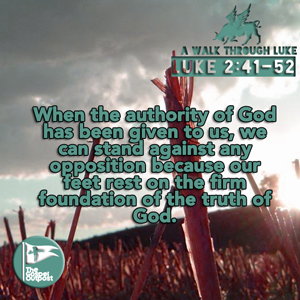 We can rest in the authority given to us by God.