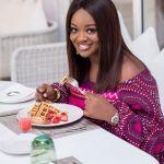 Jackie Appiah eats crocodile meat and ox balls in Kenya