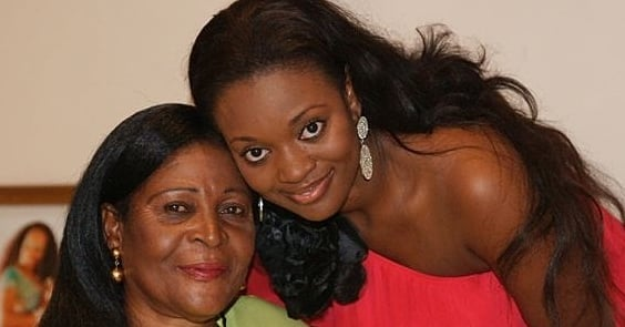 Jackie Appiah and her mother
